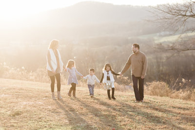 Family Session at Blue valley Winery in the Fall.