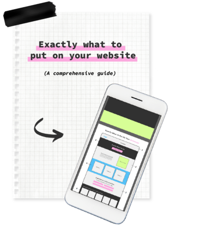 What to put on your website