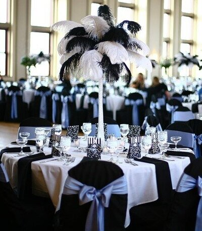 platinum ostrich feather