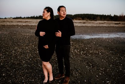 surrey sunset beach maternity photography