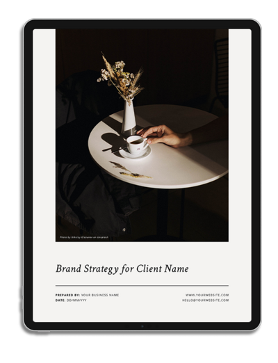 One6Creative_Brand Strategy and Direction iPad Mockup