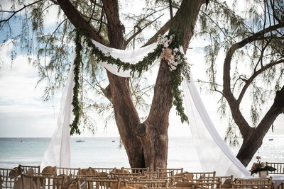 Relaxed wedding at The Lonestar Restaurant in Barbados