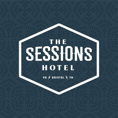 Sessions Hotel identity logo design