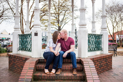 Marietta Square Engagement Photography Fall