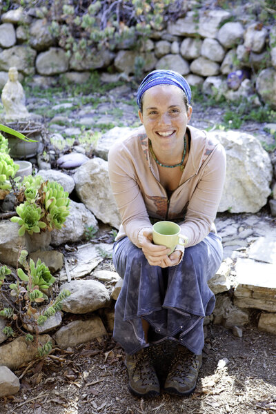 Ojai Experience Participant Having a Cup of Tea