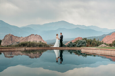 Bride and Groom at the Garden of the Gods, Wedding