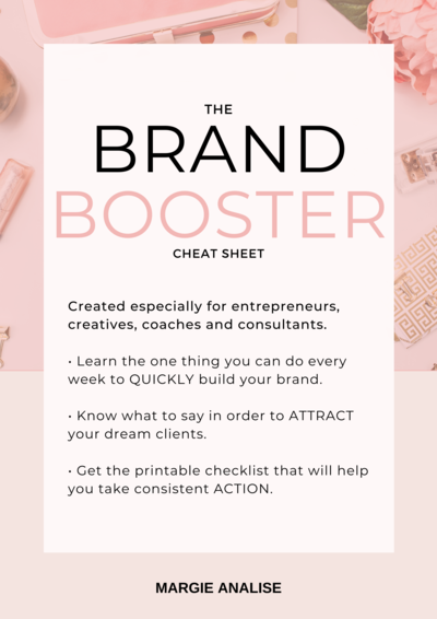 The Brand Booster Cheat Sheet