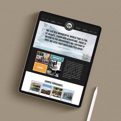 Travel Agent Showit Website Design