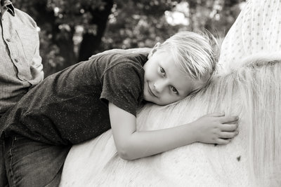 sioux falls family photography, boy on horse, south dakota