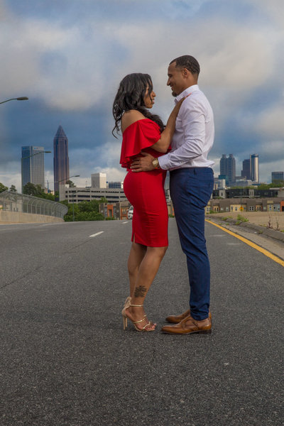 As this Florida couple gazed into each other's eyes during their Atlanta engagement session with Lynda Louis Photography