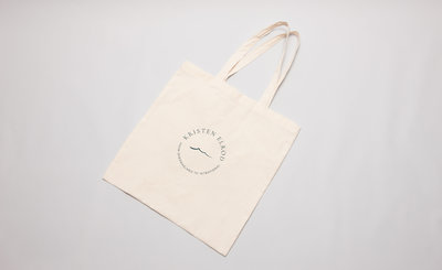 Canvas tote with the secondary logo for Kristen Elrod