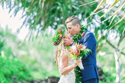 Beautiful mid-day wedding in tropical Hana Maui by Mariah Milan