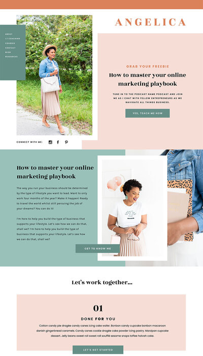 Showit website templates for coaches, creatives and photographers