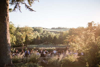 Backyard wedding reception at Venue Chilton