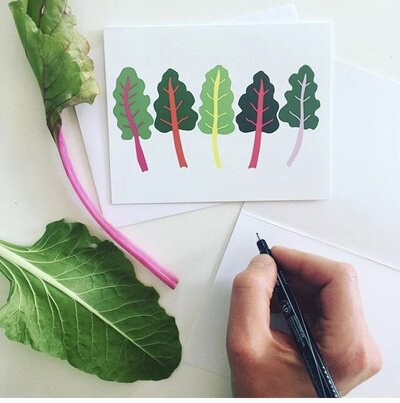 chard greeting cards