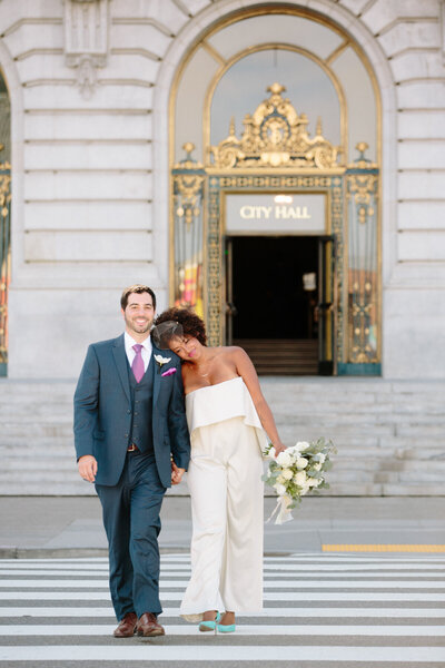 Bride & groom at San Francisco City Hall