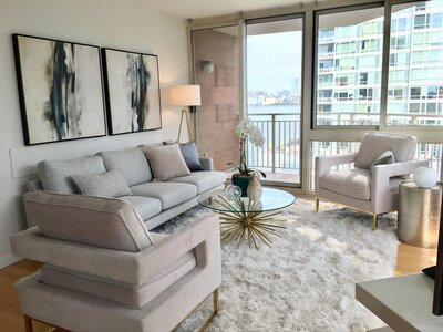 The Mandalay Jersey City, Nj home staging by Simplicity Design Services
