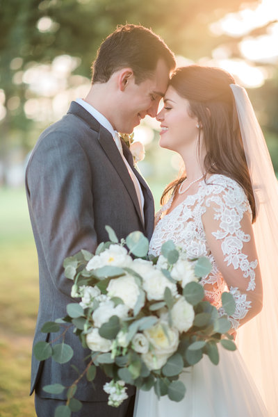 Sunkissed Bride and Groom Portrait