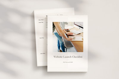 Designer Education Shop | Templates, Resources, Courses, Checklists, Education for Designers | With Grace and Gold ®