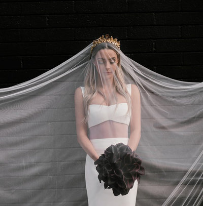 Lauryn Bosstick Tiara and Veil 2
