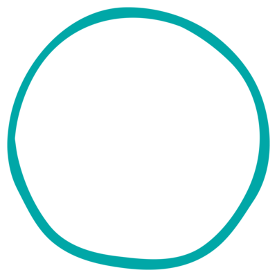 abstract teal circle
