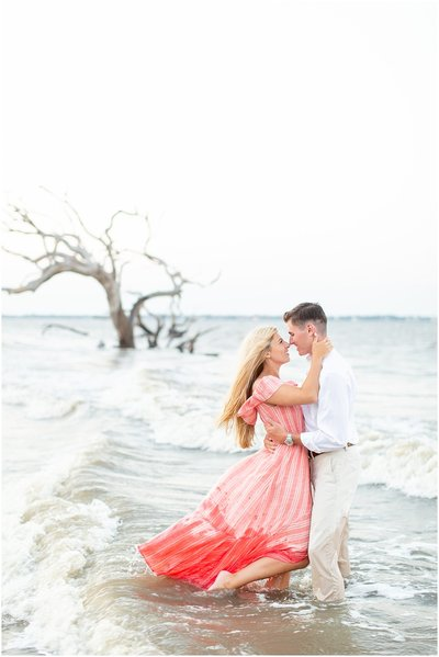 Kelsey and Seth Driftwood Beach Engagement Jekyll Island Photographer_0003