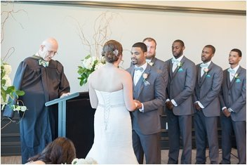 wedding ceremony at the commerce club