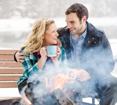Winter Engagement session with all the warm feelings.