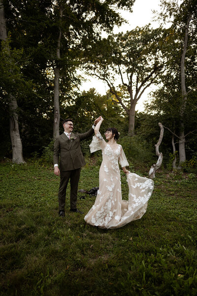 Boho Vintage Elopement in The Arnold Arboretum of Harvard University Boston Elopement and Wedding Photographer