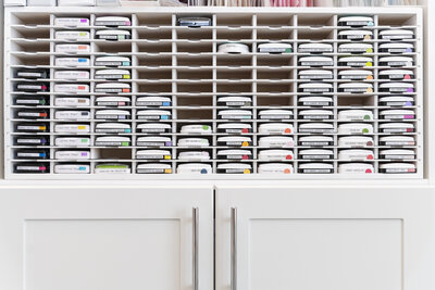 Stamp-n-Storage units for home