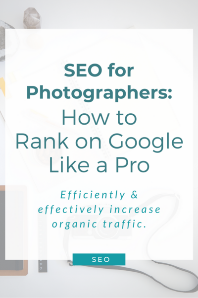 blog feature card: SEO for photographers, how to rank on Google like a pro
