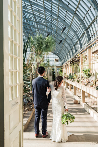 Garfield Park Conservatory Wedding _ Susie and Joe_115