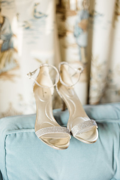 Gold Wedding Day Shoes