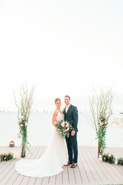 Sandpearl. Clearwater Beach Ceremony. Tampa Wedding planners. Tampa Wedding Photographers. bride and groom. ceremony.  garden ceremony. NYE wedding.