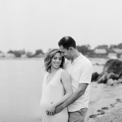 Black and White Film Maternity Photographers in Portland Maine, Tiffany Farley