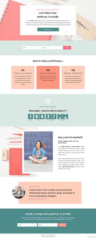 Facebook Ad Agency Showit Website Template Showcase