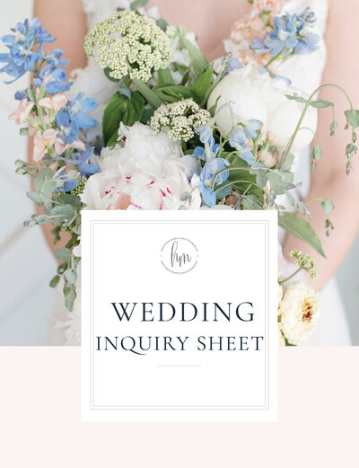 Wedding Inquiry Sheet Cover