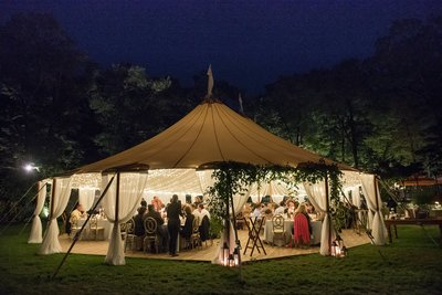 Sperry tented home wedding in Hamden, CT