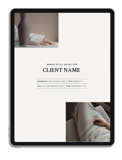 One6Creative_Brand Style Guide iPad Mockup