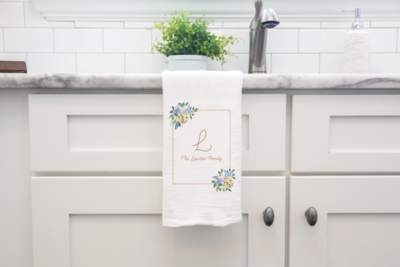 Lawson Family Initial Tea Towel_ Sink Mockup