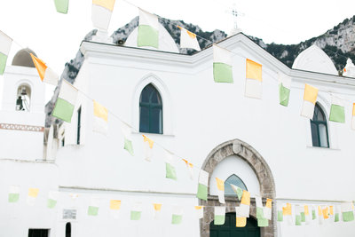 white church in capri italy