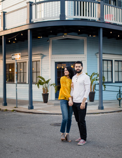 New Orleans Engagement Photography Session in Crescent Park Bywater Neighborhood Brei Olivier Photographer