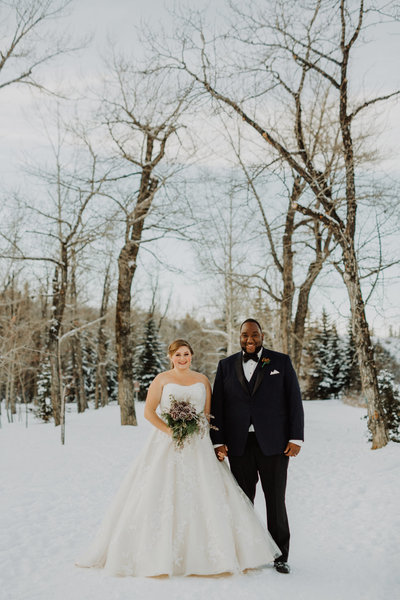 Smitten & Co. planned this beautiful winter wedding