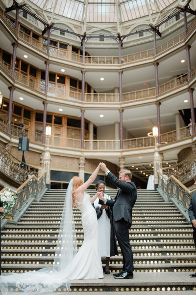 Hyatt Arcade Cleveland Wedding Photography