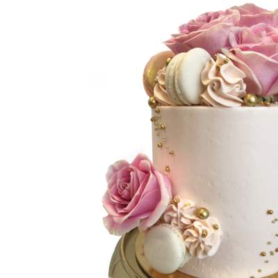 Whippt Luxe Floral Macaron Cake 2