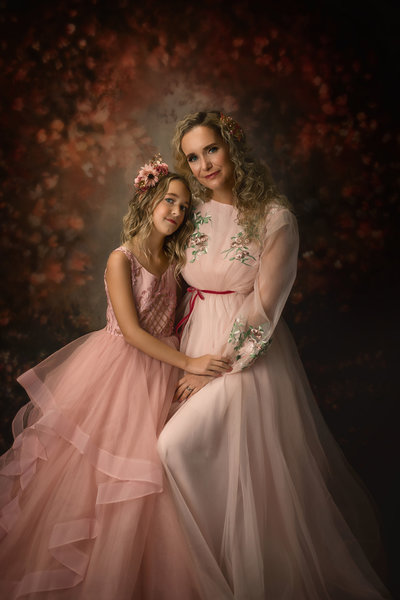 Mother-Daughter-Pink Florals-Dallas