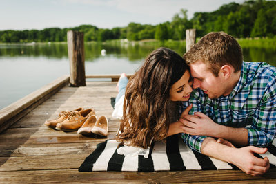 White rock lake engagement session by stephane lemaire photography