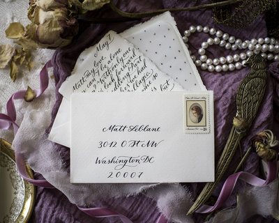 Fine Art Wedding Stationary and Calligraphy by Calligraphette and Co, Wedding Photography by Erin Tetterton Photography
