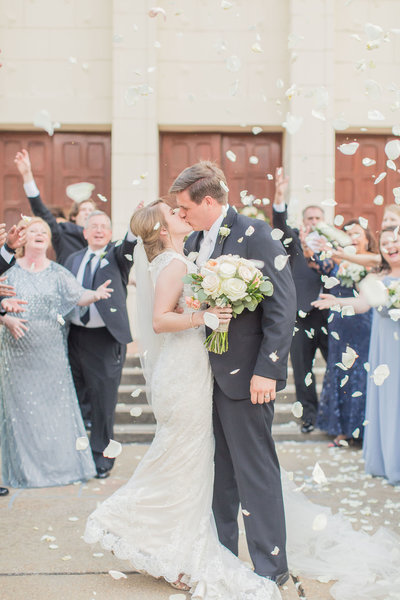 Petal toss wedding day, A Jackson, Mississippi Summer Wedding | Fondren Church & The Railroad District