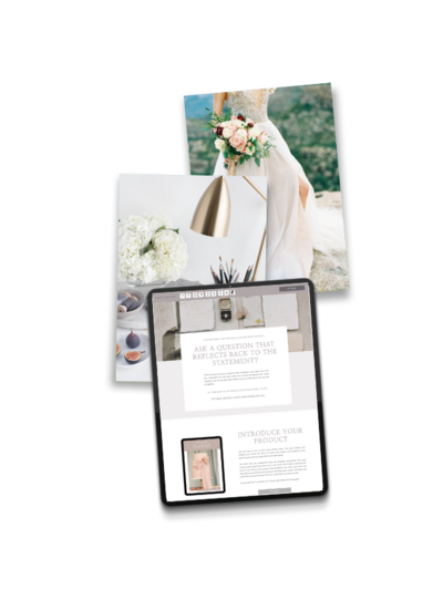 tofino sales page showit template